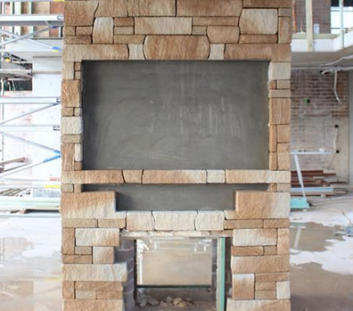 Stone Fireplace  Sandstone cladding